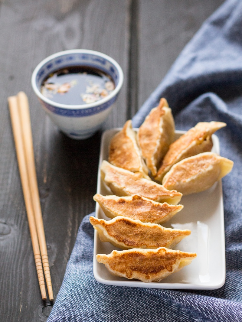 spicy butternut squash dumplings with dipping sauce