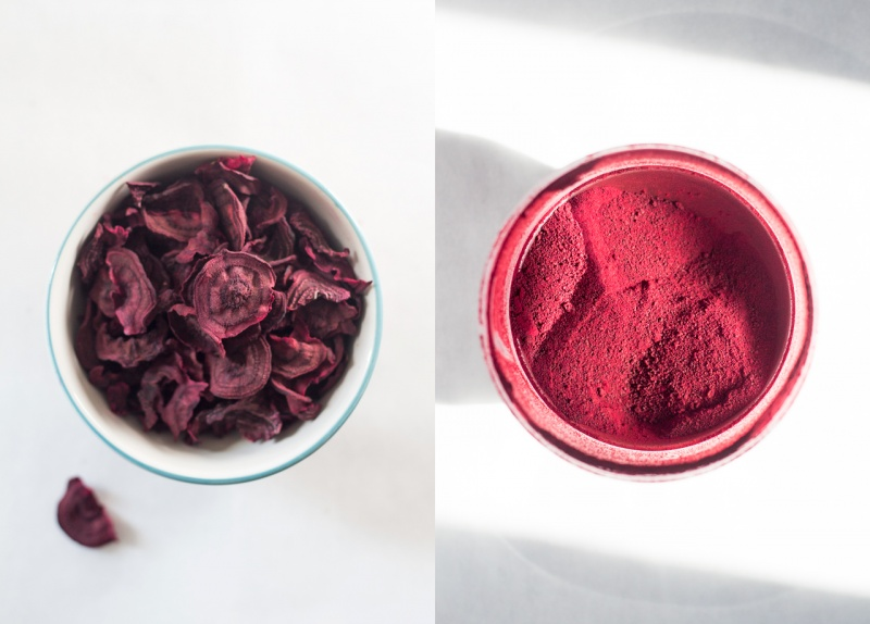 making beetroot powder