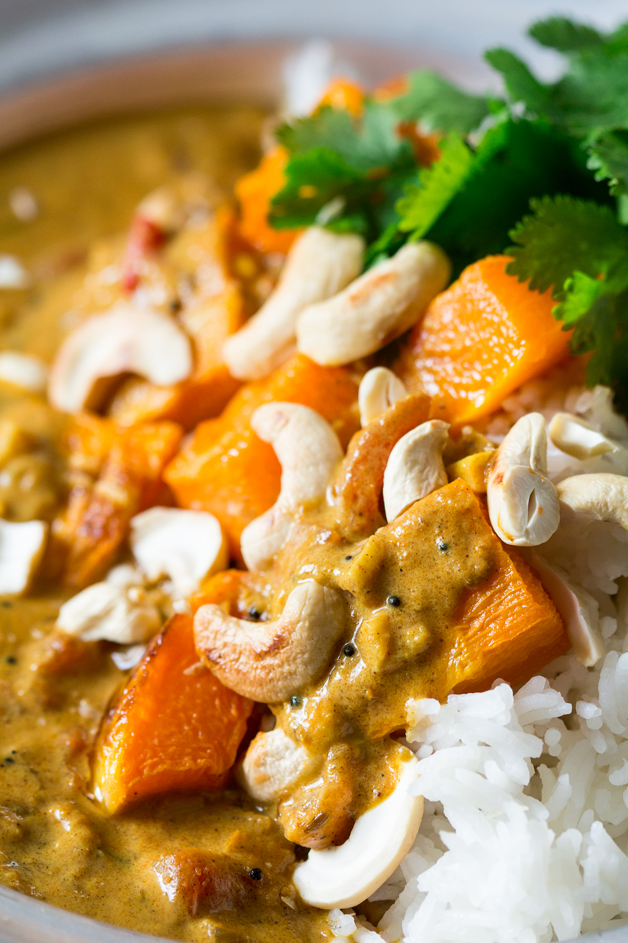 pumpkin coconut curry close up