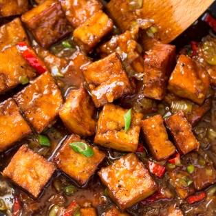 tofu w sosie z pieprzem