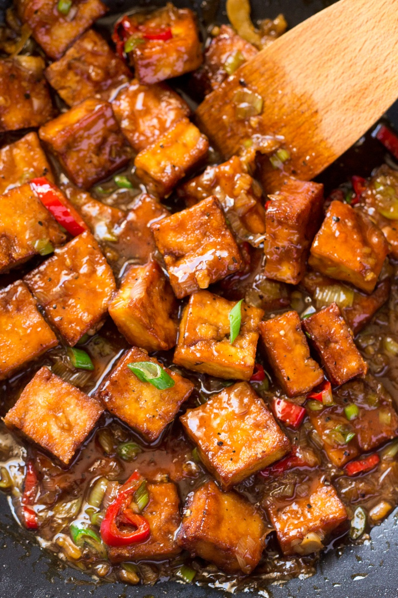 vegan black pepper tofu