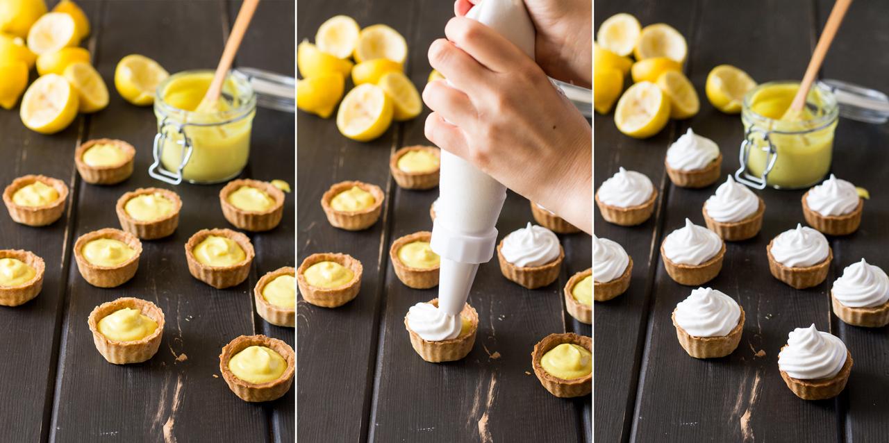 vegan lemon meringue pie decorating
