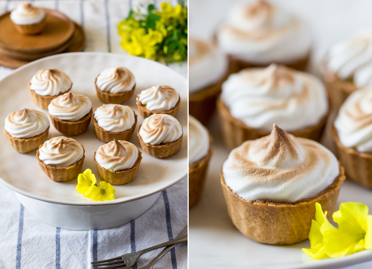 vegan lemon meringue pies duo