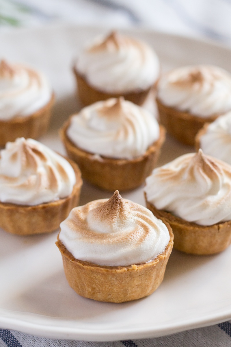 vegan mini lemon meringue pies