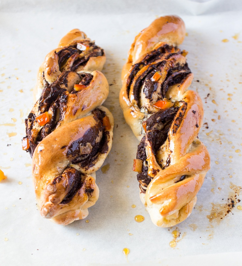 chocolate and orange twists sidedown