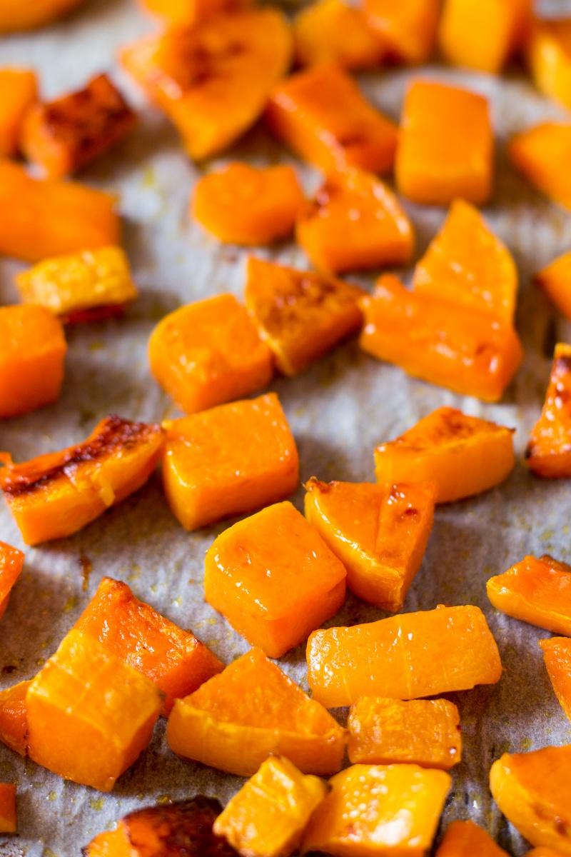 roasted butternut squash for pumpkin hummus