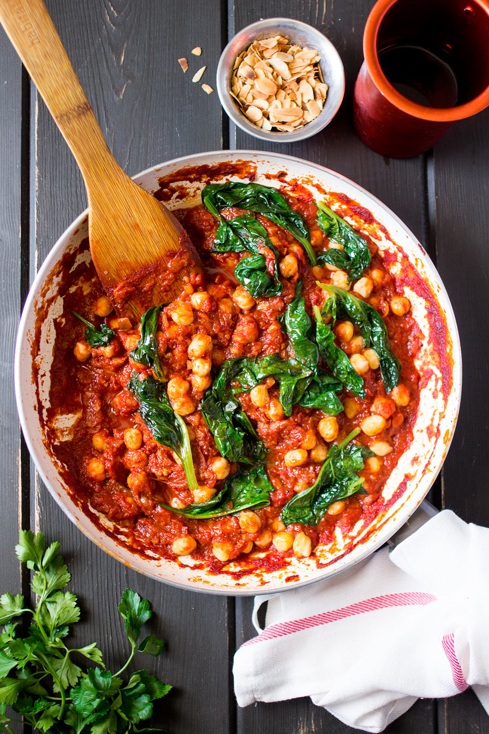 Spanish Chickpea And Spinach Stew Lazy Cat Kitchen