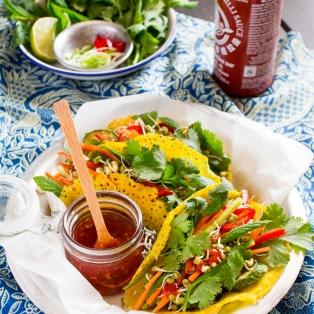 chrupiące naleśniki wietnamskie lunch