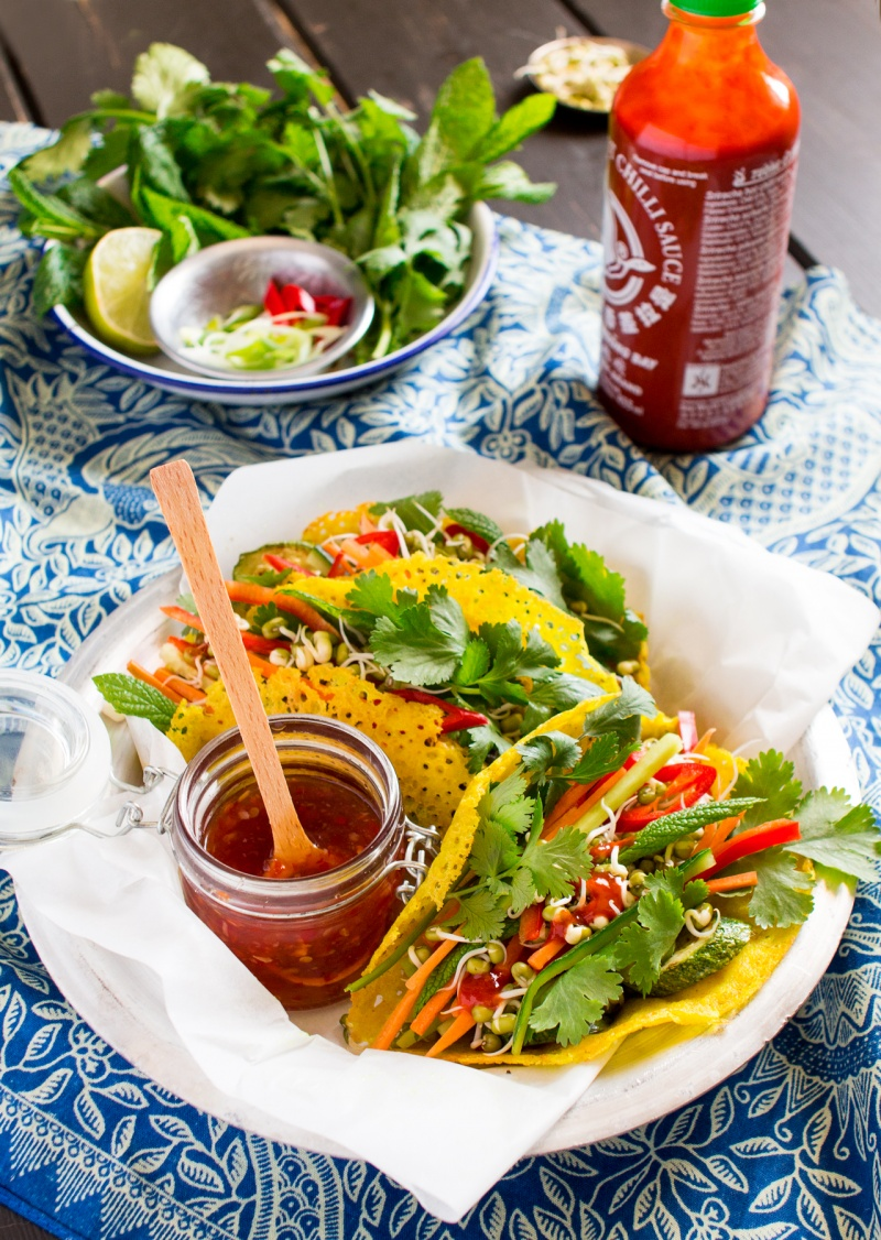 crispy vietnamese pancakes lunch