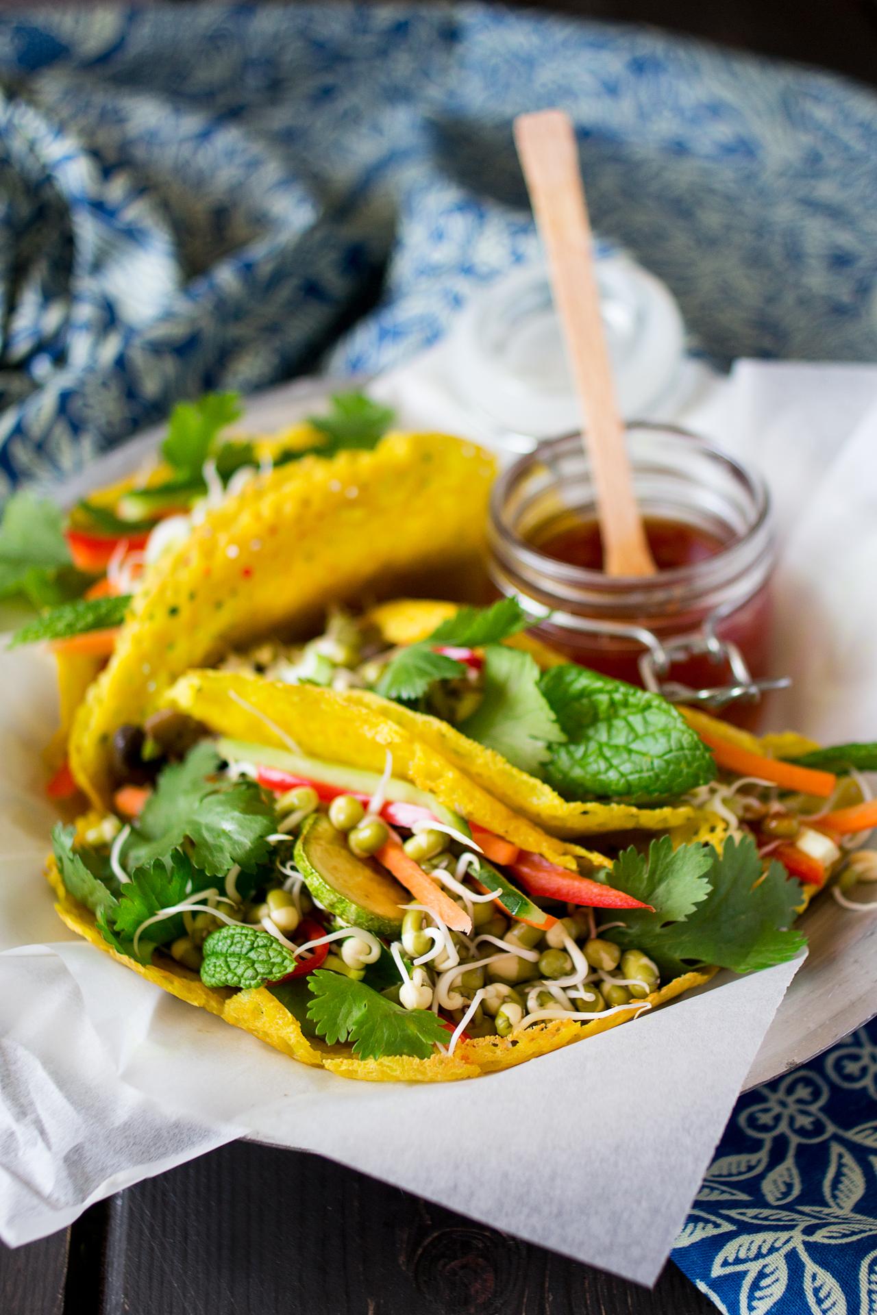 chrupiące naleśniki wietnamskie porcja