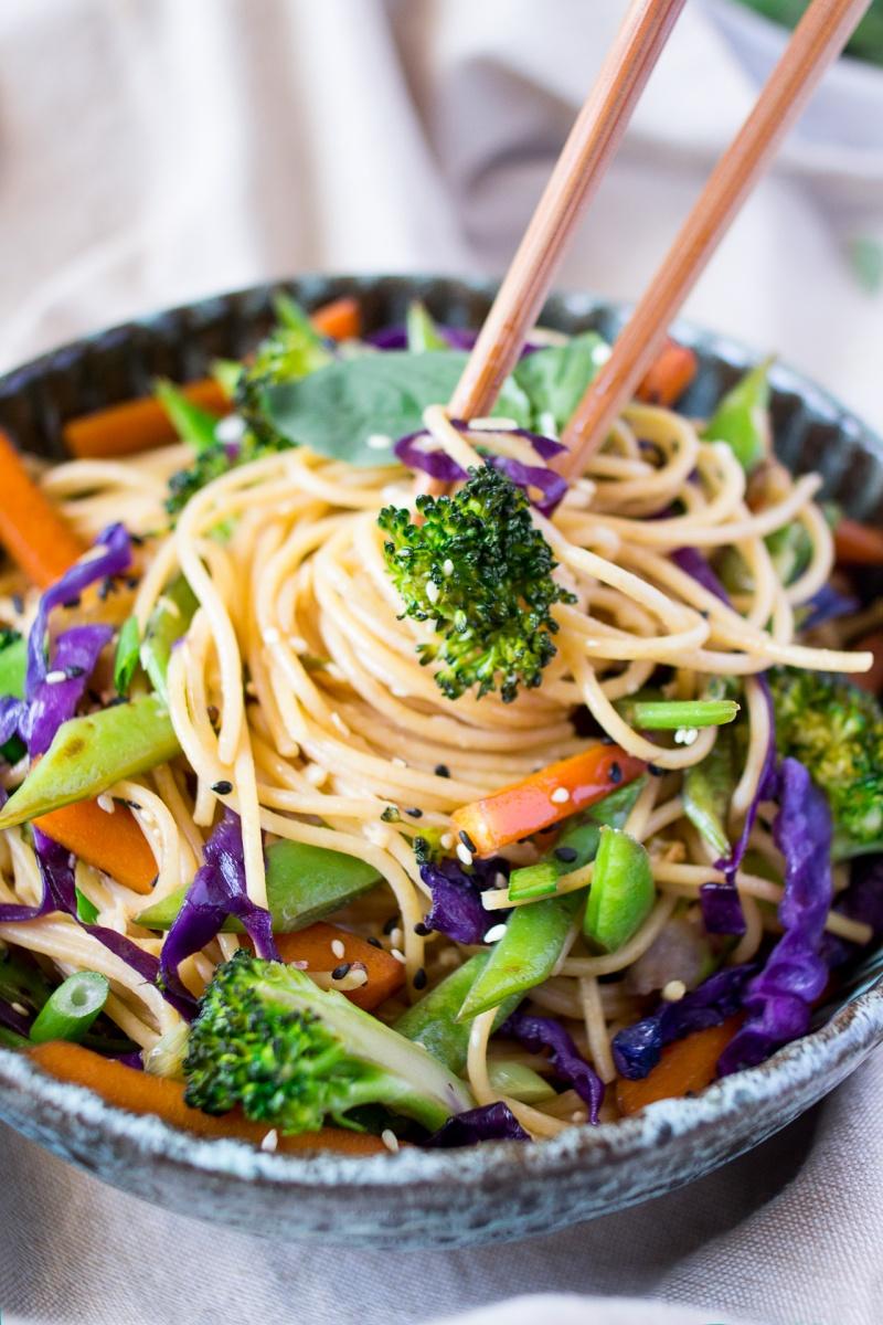 Gingered Sesame Noodles Recipe — Dishmaps