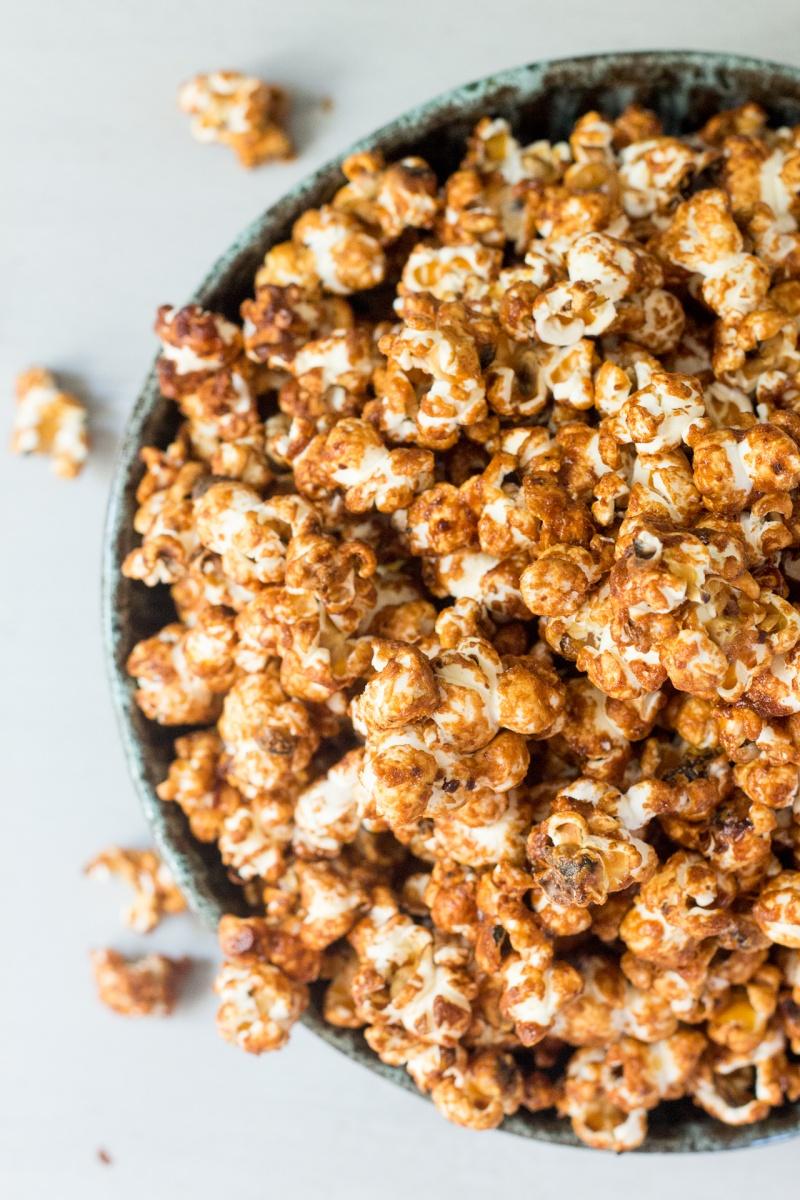 miso maple vegan popcorn