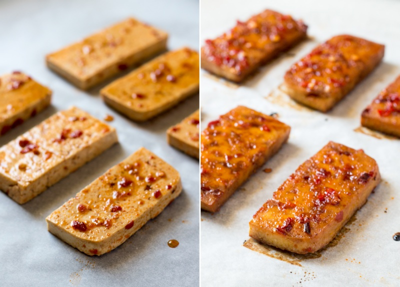 spicy tofu before and after