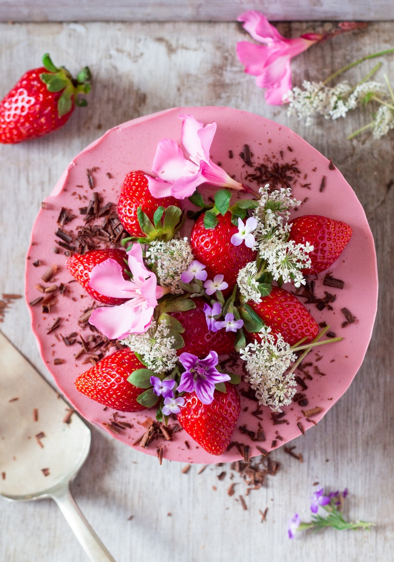 Remarkable Vegan Strawberry Cheesecake Oil Free Lazy Cat Kitchen Funny Birthday Cards Online Barepcheapnameinfo