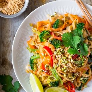 wegańskie pad thai