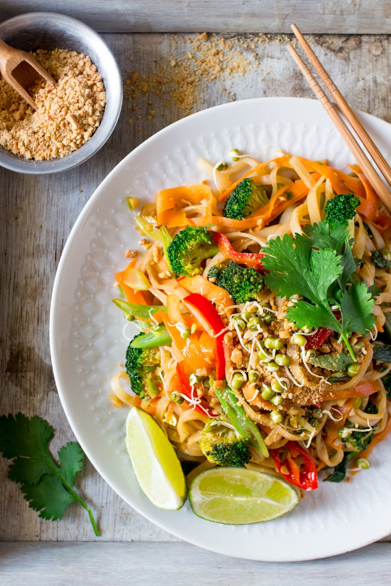 Vegan Pad Thai Lazy Cat Kitchen