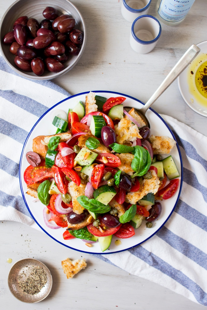 Bread Salad in Cherry Tomatoes