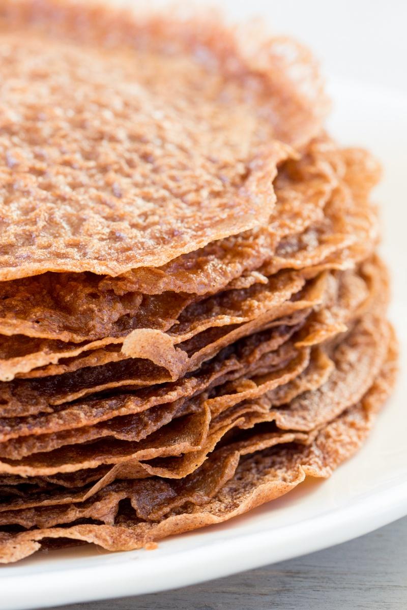 vegan chocolate crepes stack