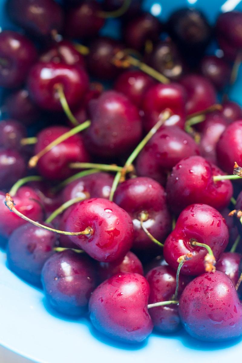 cherries for Vegan bakewell tarts