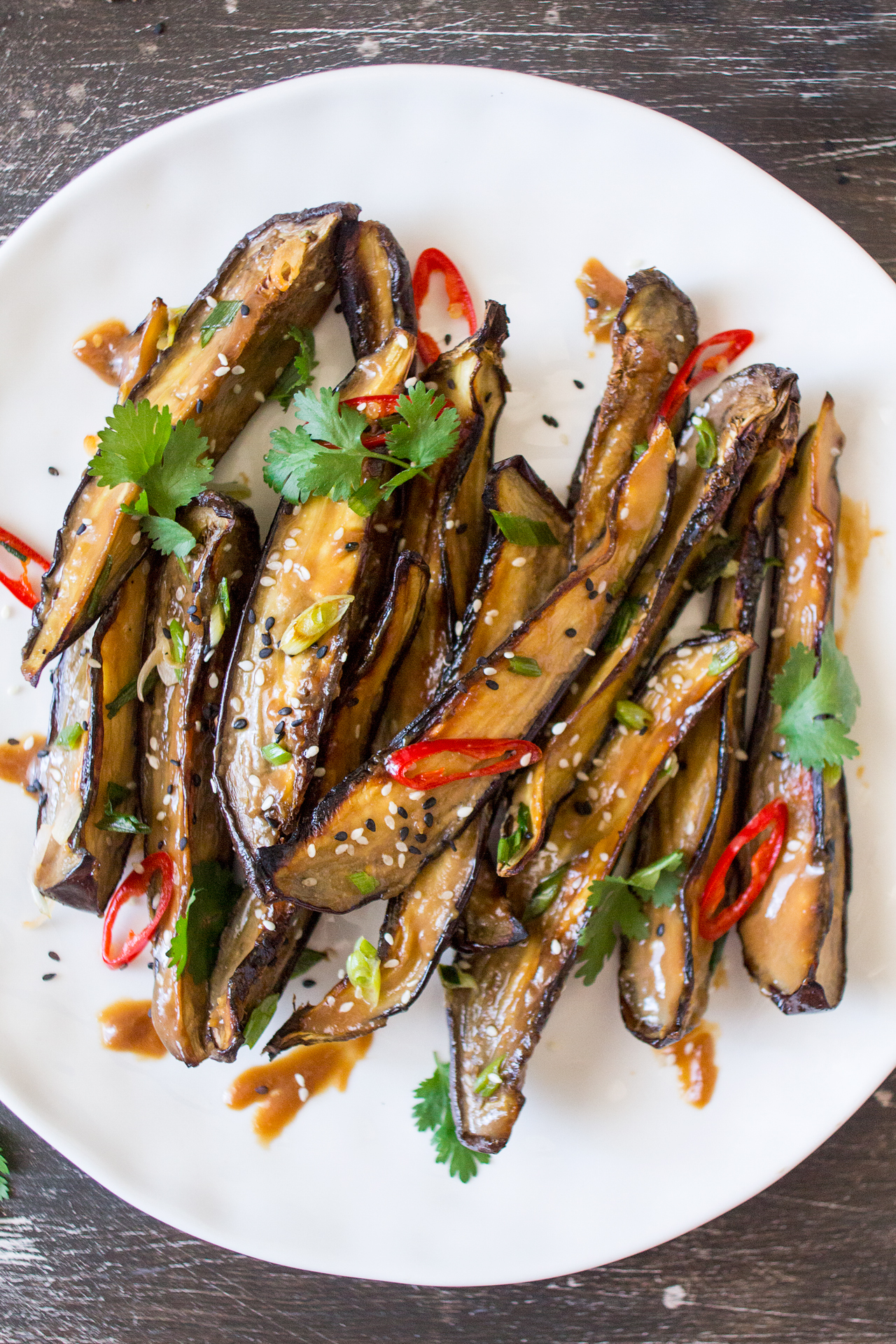 Miso glazed aubergine or nasu dengaku Lazy Cat Kitchen