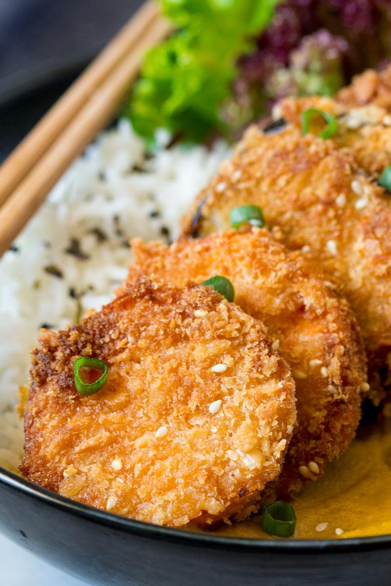 yasai katsu curry close up