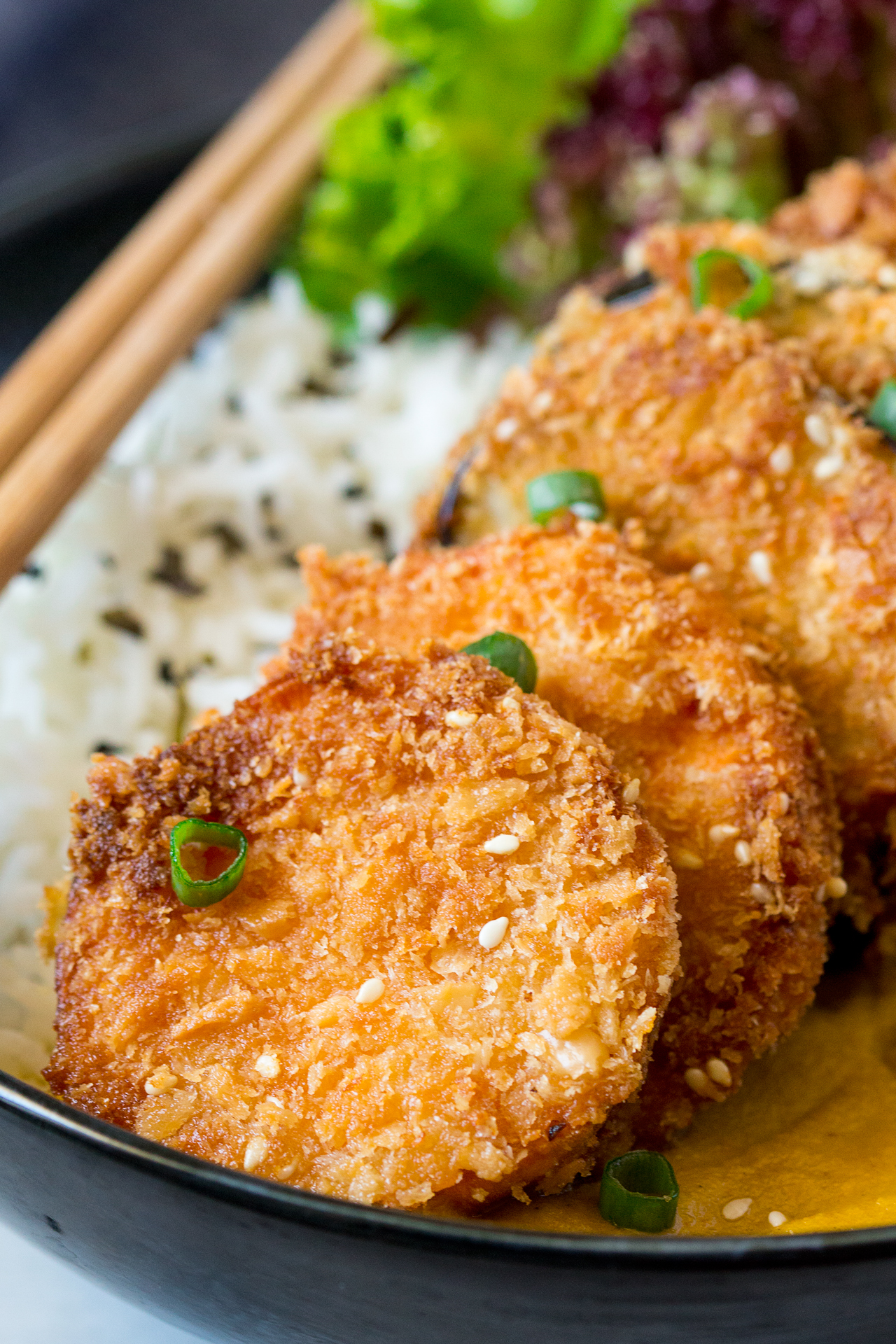 yasai katsu curry close up