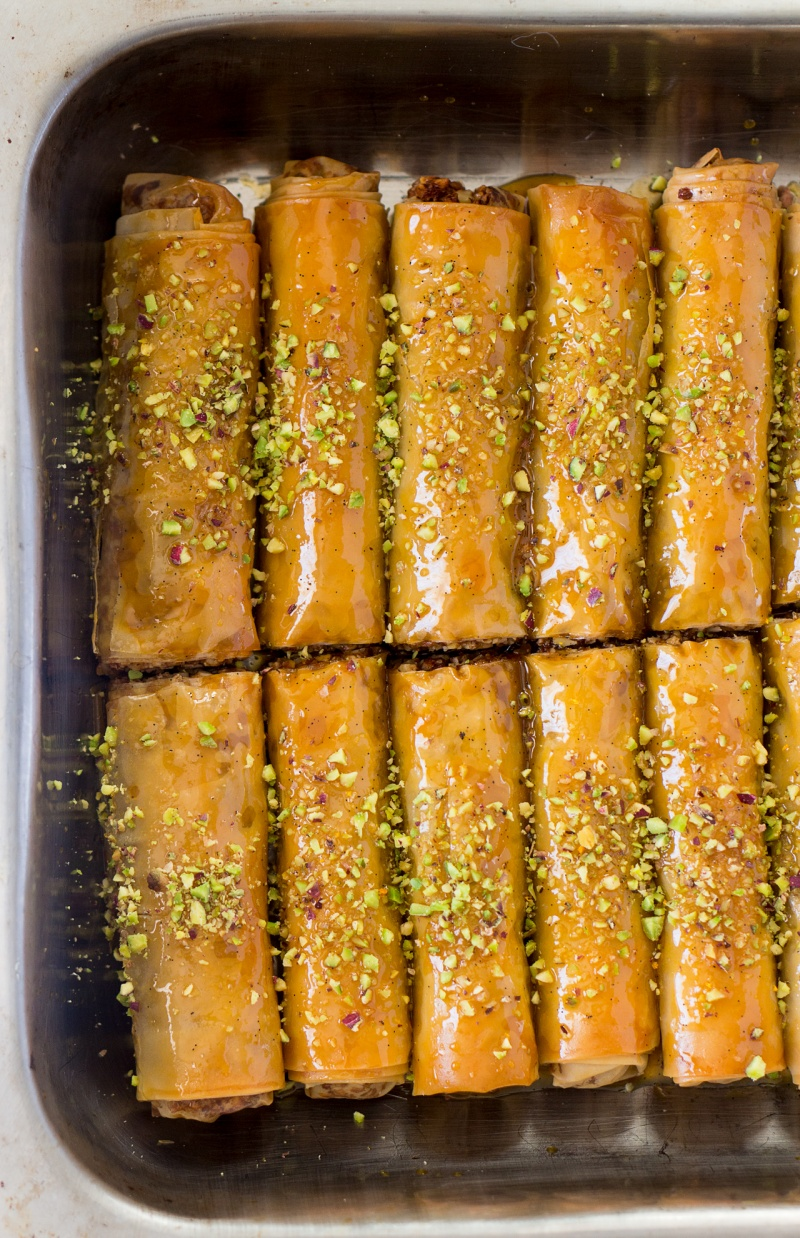 vegan baklava cigars tray