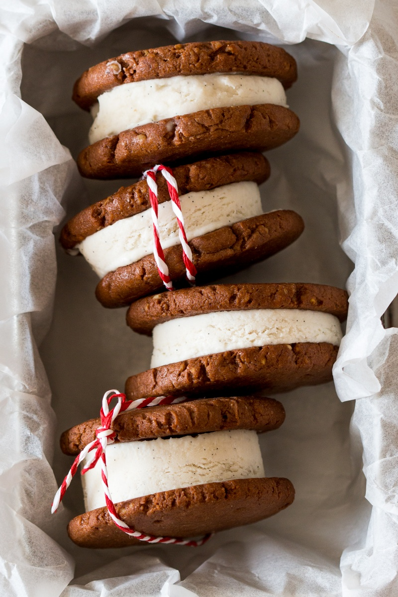 Vegan and gluten-free ice cream sandwiches - Lazy Cat Kitchen