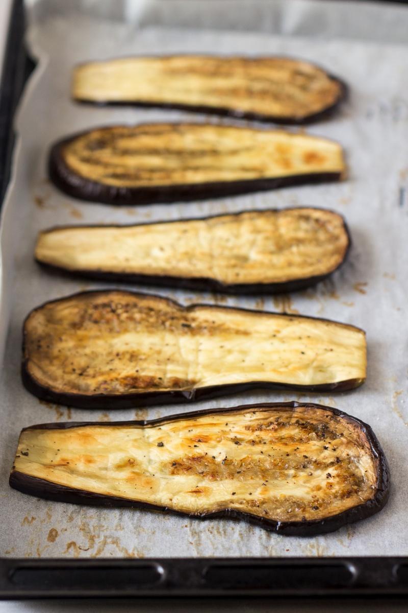 baked aubergine slices