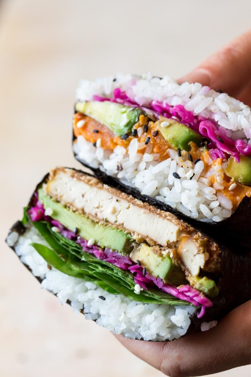 vegan onigirazu