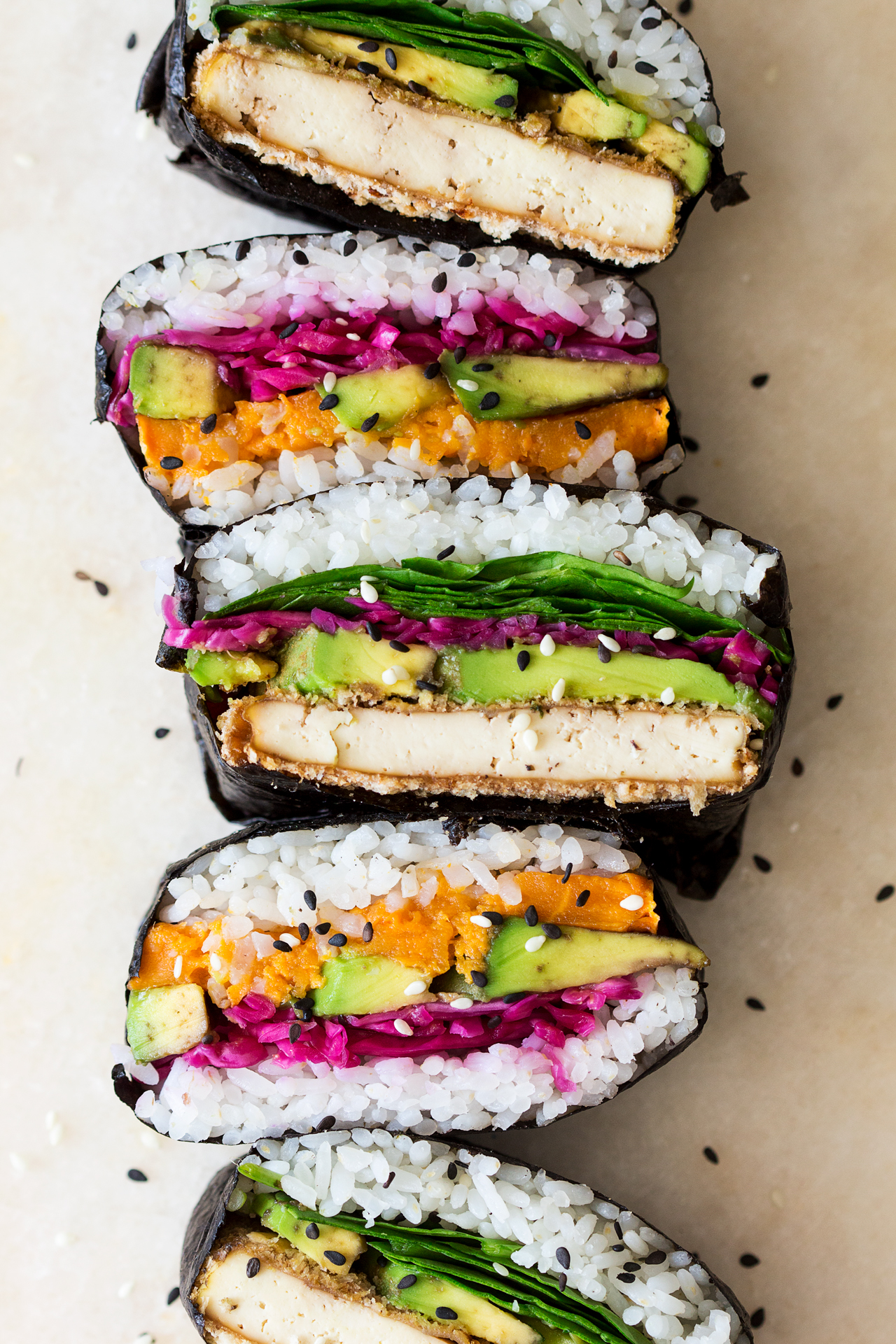 Onigirazu Sushi Sandwich Lazy Cat Kitchen