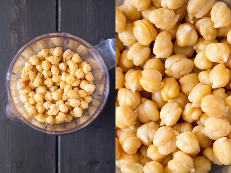 peeled chickpeas for vegan beet hummus