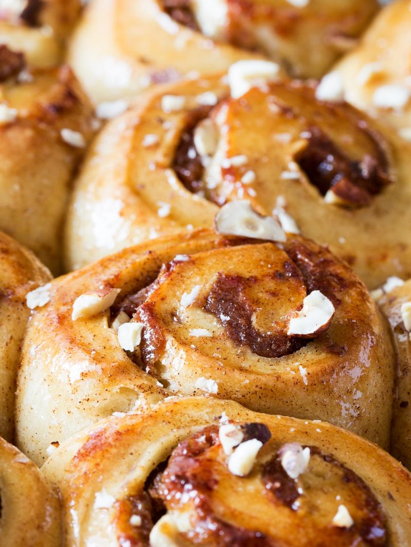 sugar-free cinnamon rolls close up