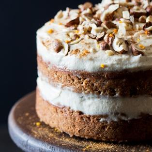 vegan carrot cake close up