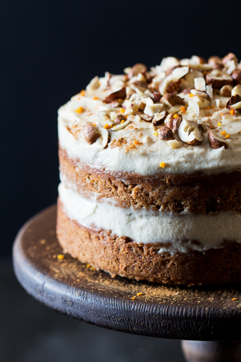 vegan carrot cake close up