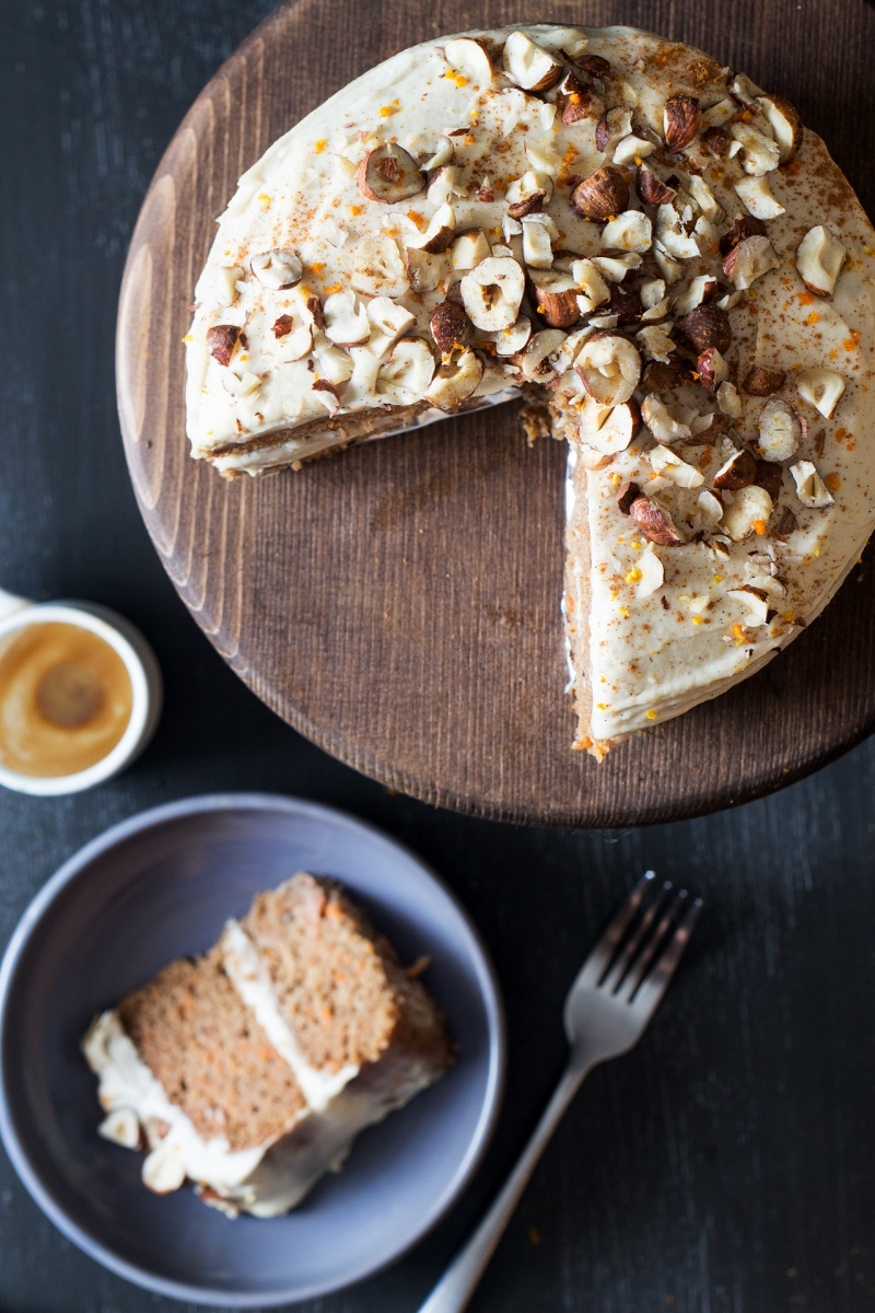 vegan carrot cake slice