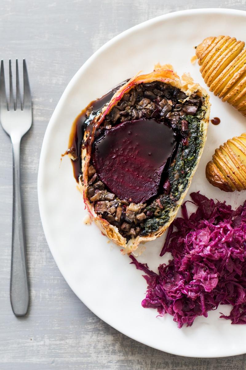 beet Wellington vegan xmas dinner