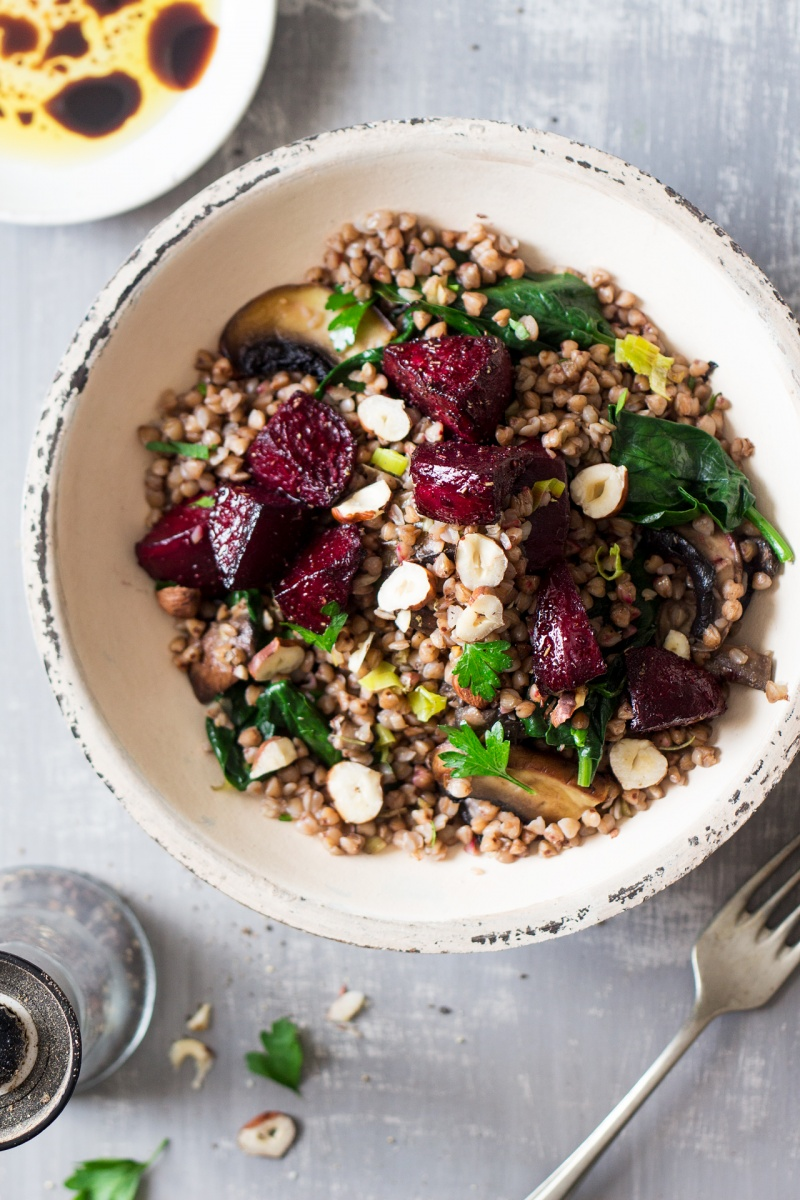 Warm Buckwheat And Beetroot Salad Lazy Cat Kitchen