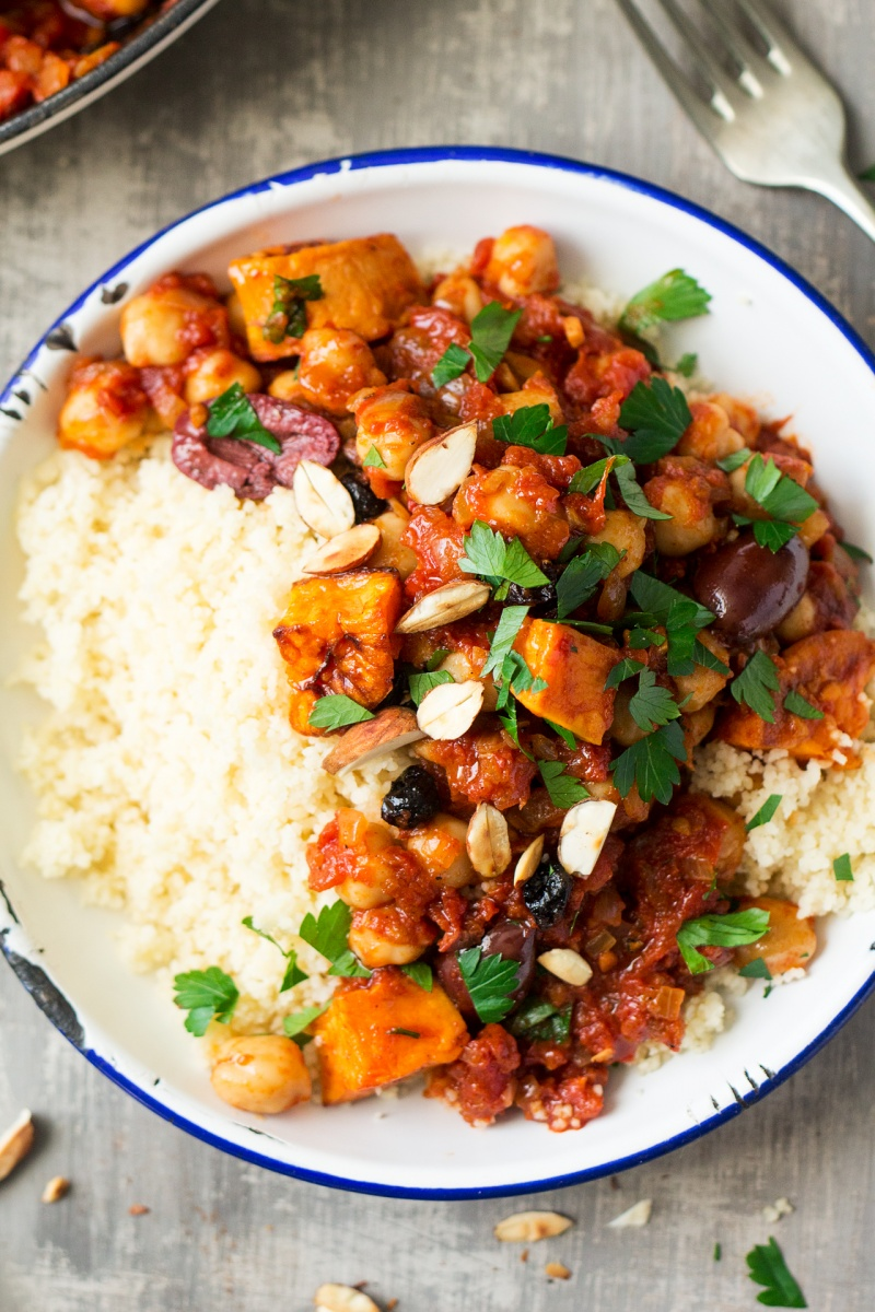 Moroccan chickpea stew lazy cat kitchen moroccan chickpea stew portion forumfinder Gallery