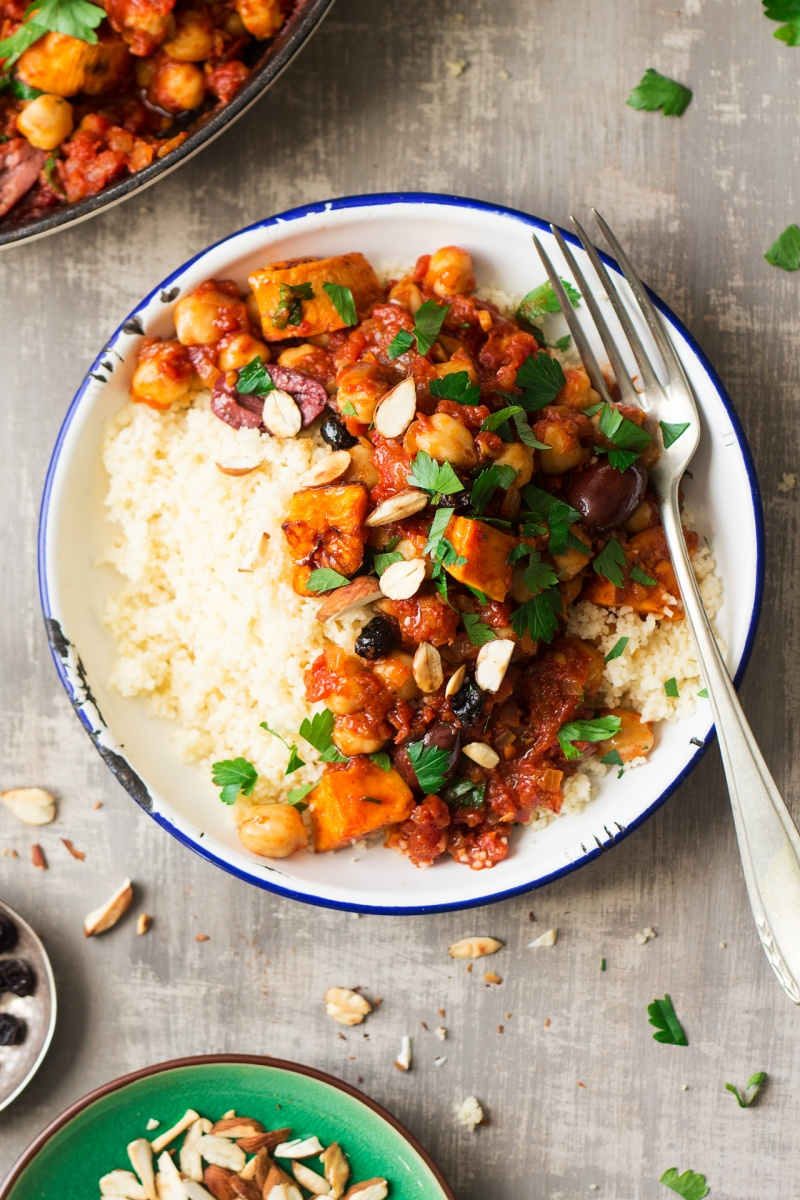 moroccan chickpea stew top down