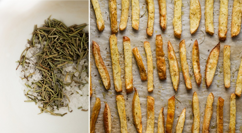 rosemary fries and rosemary salt
