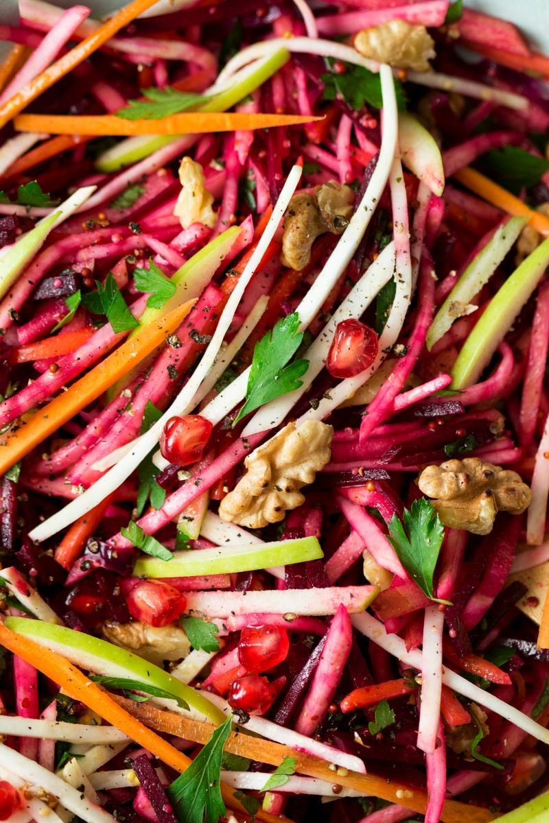 vegan christmas salad close up