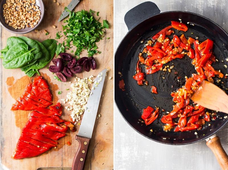 vegan-red-pepper-pasta-process