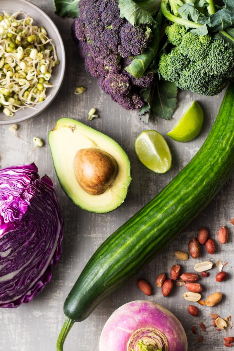 asian veggie bowl ingredients