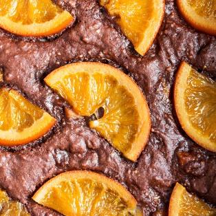gooey chocolate brownies orange macro