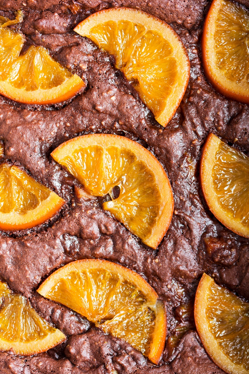 gooey chocolate brownies orange macro