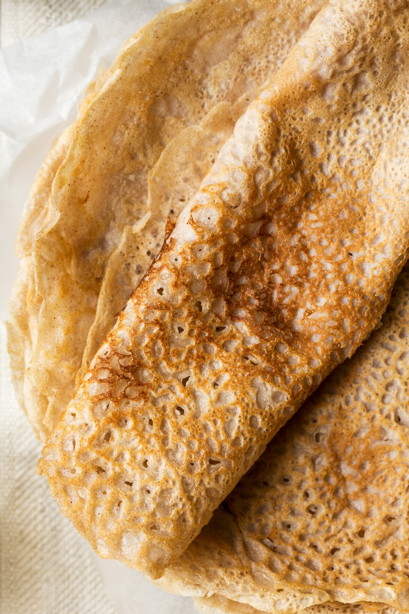 eggless crepes macro