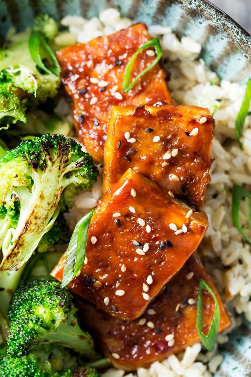 tofu dengaku close up