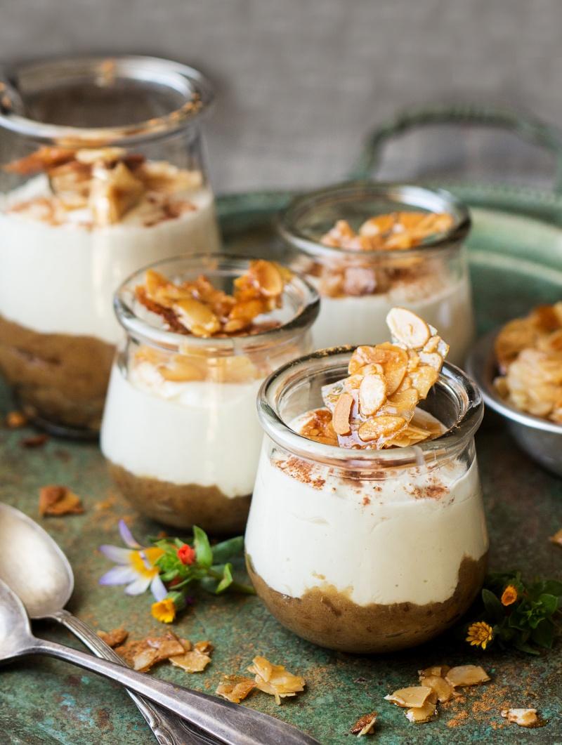no bake vegan cheesecake jars