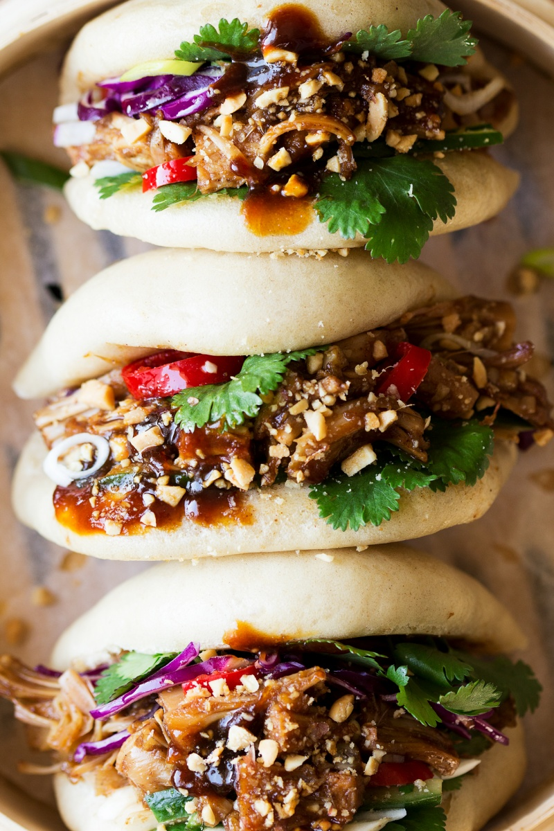 vegan bao buns row